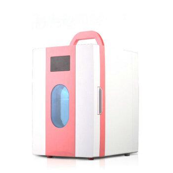 SOMATE 10 L車載冷凍庫静音タイプの車家兼ミニ冷蔵庫母乳化粧品保冷保存ボックス10 Lピンク