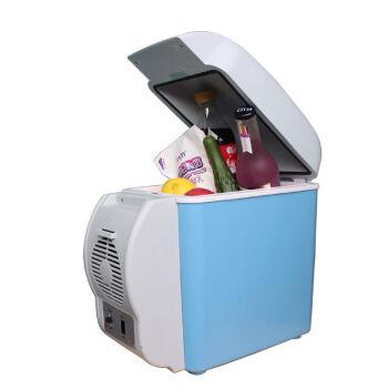 伝楓車載冷蔵庫7.5 L立式ミニ自動車小冷蔵庫12 V冷暖箱便利式保温箱7.5 L