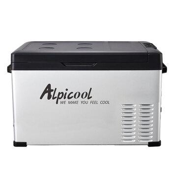 Alpicool Alpicoolコンプレッサー車載冷蔵庫30 L車家兼用寮事務室ミニ冷蔵庫冷凍屋外防震冷凍冷蔵庫